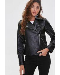 Forever 21 Hooded Moto Jacket - Gray