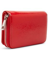 Forever 21 Faux Patent Leather Wallet - Red