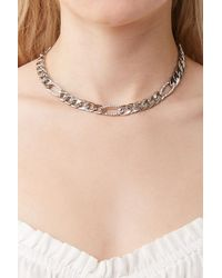 Forever 21 Curb Chain Necklace - Metallic