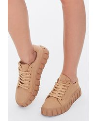 Forever 21 Low-top Canvas Sneakers - Brown