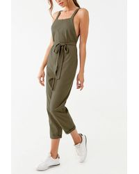 Forever 21 Straight Leg Jumpsuit , Olive - Green