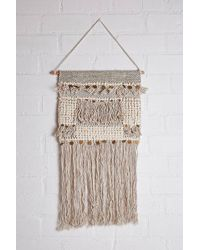 Forever 21 Wall Hanging Tassel & Gold Chevron – Natural/gold , Yellow/multi - Metallic