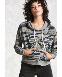Forever 21 - Women's Camo Print Hoodie - Lyst