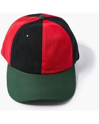 Forever 21 Colorblock Dad Cap - Red