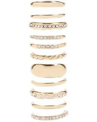 Forever 21 - Women's High-polish Rhinestone Ring Set - Lyst
