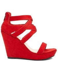 Forever 21 - Faux Suede Caged Wedges - Lyst