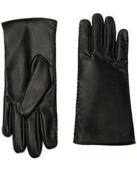 Forever 21 Fleece Faux Leather Gloves , Black