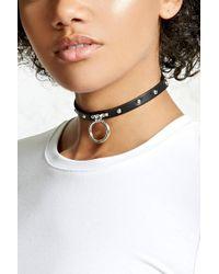 Forever 21   Studded O-ring Collar Choker   Lyst