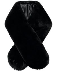 Forever 21 Faux Fur Oblong Scarf - Black