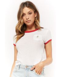 Forever 21 - Parrot Embroidered Ringer Tee - Lyst