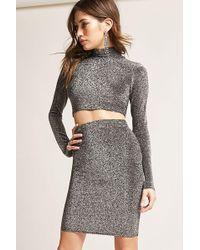 5f8977f05a1 Lyst - Forever 21 Pocket Skater Skirt in Black