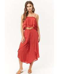 Forever 21 - Cropped Cami & Tulip Trousers Set - Lyst