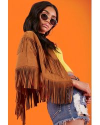 Forever 21 - Women's Faux Suede Fringe Poncho - Lyst