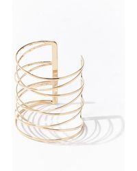 Forever 21 Crisscross Bracelet Cuff , Gold - Metallic