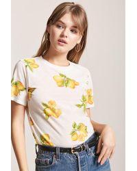 Forever 21 - T-Shirt mit Zitronenmuster - Lyst
