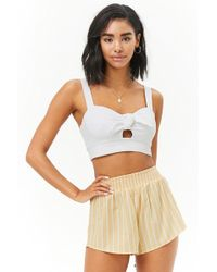 Forever 21 - High-rise Smocked Shorts - Lyst