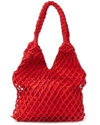 Forever 21 Crochet Tote Bag , Red