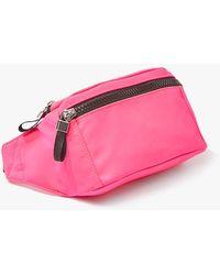 Forever 21 Woven Belt Bag , Hot Pink