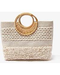 Forever 21 Shaggy O-ring Tote Bag - Natural