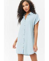 Forever 21 - Chambray Shirt Dress - Lyst