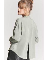 Forever 21 - Basic Woven Tulip-back Shirt - Lyst