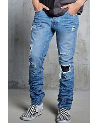 Forever 21 - Distressed Slim-fit Jeans - Lyst