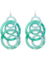 Forever 21 - Linked Marble Drop Earrings - Lyst