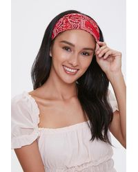 Forever 21 Paisley Face Covering In Red