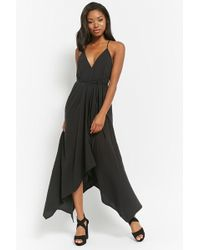 e1fbfadb0a5 Forever 21 High-slit Layered Tank Dress in Black - Lyst