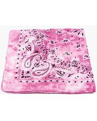 Forever 21 Tie-dye Paisley Bandana In Pink