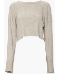 Forever 21 Cropped Bell-sleeve Sweater - Natural