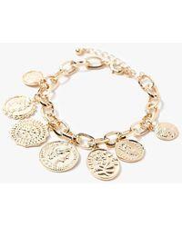 Forever 21 Coin Charm Bracelet - Metallic
