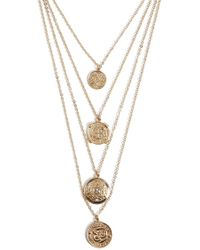 Forever 21 - Women's Etched Layered Necklace - Lyst