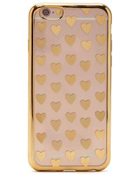 Forever 21 Heart Case For Iphone 6/6s/7 - Metallic