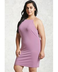 1937e62ffe0 Forever 21 Plus Size Classic Skater Dress in Pink - Lyst