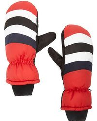 Forever 21 Padded Colorblock Mittens , Red/multi