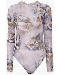 Forever 21 Renaissance Graphic Bodysuit - Multicolour