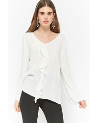 Forever 21 - Semi-sheer Flounce Top - Lyst