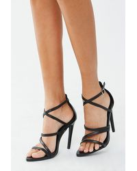 Forever 21 Faux Leather Stiletto Heels , Black