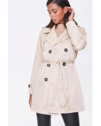 Forever 21 Double-breasted Trench Co - Natural