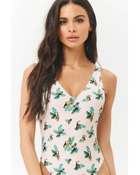 Forever 21 - Toucan & Leaf Print One-piece Swimsuit - Lyst