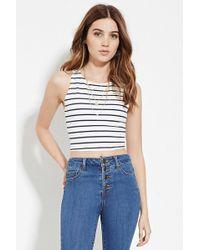 Forever 21 - Stripe Crop Top - Lyst