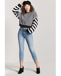 Forever 21 - Raw-cut Skinny Jeans - Lyst