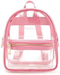Forever 21 - Faux Patent Leather Trim Backpack - Lyst