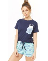 Forever 21 - Women s Pugly   Proud Graphic Pyjama Set - Lyst b0bd5406e