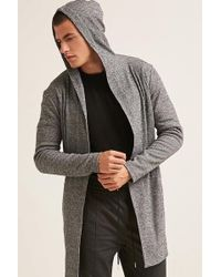 Forever 21 - Open-front Hooded Longline Cardigan - Lyst