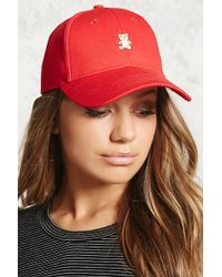 Forever 21 - Embroidered Teddy Bear Dad Cap - Lyst