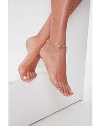 Forever 21 Figaro Chain Anklet Set - Metallic