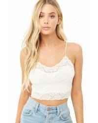 be96b332dab Lyst - Forever 21 Cotton-blend Stripe Push-up Bra in Blue