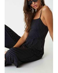 Forever 21 - Women's Pinstriped Cami Jumpsuit - Lyst
